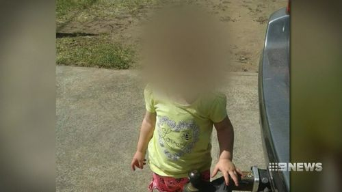 Falkiner's four-year-old daughter was left in a wheelchair. Picture: 9NEWS.