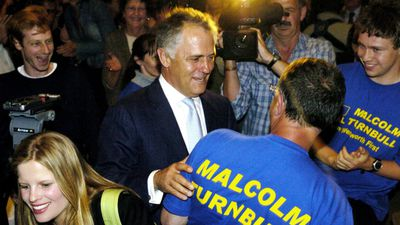 Malcolm Turnbull was elected to Federal Parliament as the member for Wentworth in Sydney's east in the 2004 election.