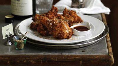 "Recipe: <a href=""http://kitchen.nine.com.au/2016/05/17/10/01/crisp-southern-fried-chicken"" target=""_top"">Crisp Southern fried chicken</a>"