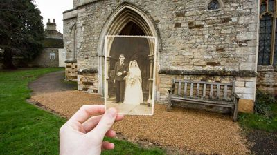 Student returns to the locations of old family photos for a moving tribute