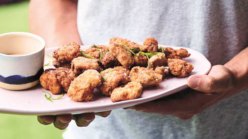 Luke Hines' better for you hot and spicy chicken nuggets