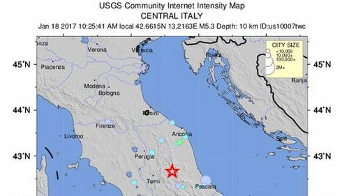 Three strong quakes hit central Italy