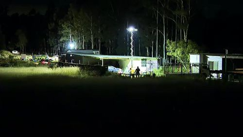 9News understands a search warrant was executed at the Fernvale property in relation to the murder of former bikie Shane Bowden.