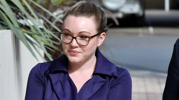 Courtney Williams arrives at court for a second day of giving evidence. Picture: AAP