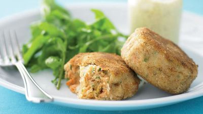 "Recipe: <a href=""http://kitchen.nine.com.au/2016/05/13/11/33/salmon-croquettes"" target=""_top"">Salmon croquettes</a>"