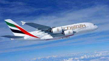 An Emirates A380. (File/AAP)