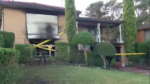 NSW Fire said the house could have collapsed from the damage. Image: 9News