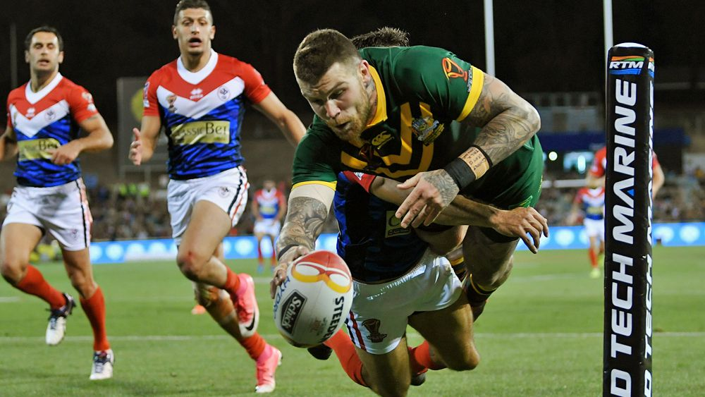 Rugby League World Cup: Kangaroos thrash France in Canberra