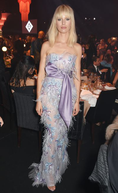 Karolina Kurkova in Marchesa at the amfAR Gala, Cannes 2017