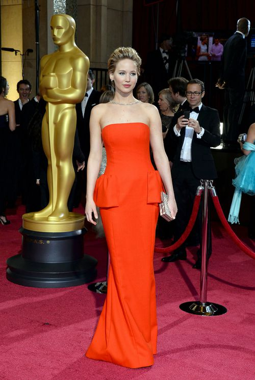 Hunger Games actress Jennifer Lawrence has come in second on the Forbes list for a second consecutive year. (Getty)