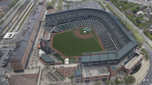 Oriole Park sits empty after a game was postponed due to Gray's funeral. (AAP)