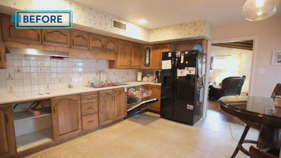 One of a kind Trista Mark renovation Kitchen before