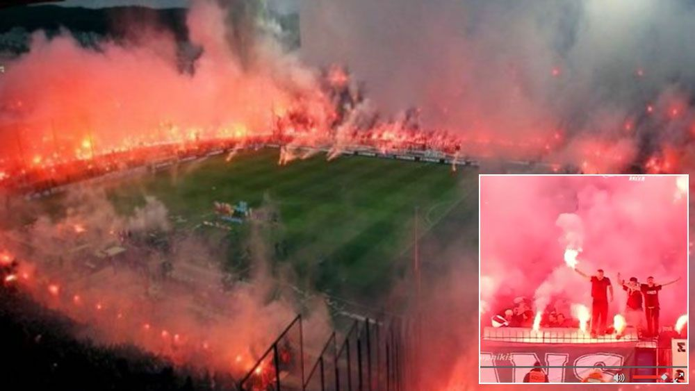 Football: Greek Cup semi-final halted by violence