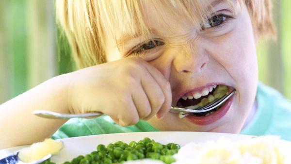Boy eating