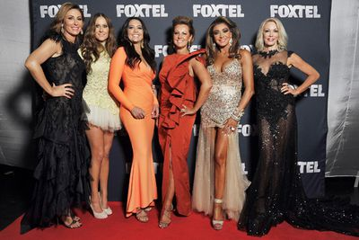 Making their first red-carpet appearance together at Foxtel's 2014 Upfront event on October 16, 2013.<br/><br/>Image: Ben Symons/Foxte