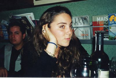Looking dreamy in 2001 during a trip to Florence on her gap year - just months before she met Prince William.