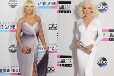 Did anyone actually recognise Christina Aguilera at the 2013 AMAs!?! After months and months of criticism over her curves, the mum of one stepped out smuggly on the red carpet where she showcased her 23 kilo weight loss!<br/><br/>We take a look at Christina's crazy body transformation over the last 12 months... <br/><br/>