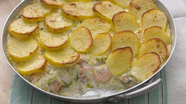 Fish and potato pie