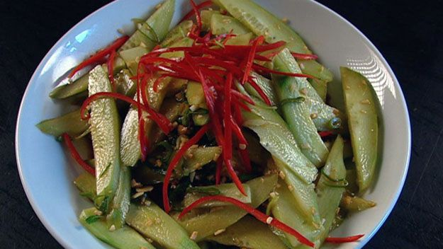 Hot and sour cucumber salad
