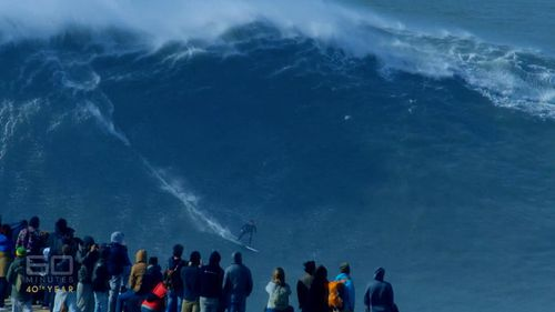 Nazare has become a mecca for big wave surfers. (60 Minutes)