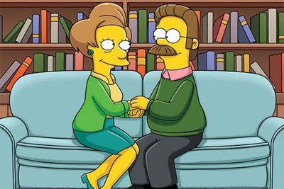 "At the end of <i>The Simpsons</i>' 22nd season, producers decided to let viewers decide whether to hook up Ned Flanders and Edna Krabappel via a social media campaign. Apparently, enough fans thought this was a good idea for ""Nedna"" (gross) to become an official couple."