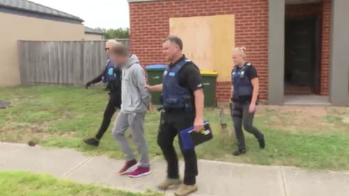 The early morning raids targeted properties across Melbourne today. (Supplied)