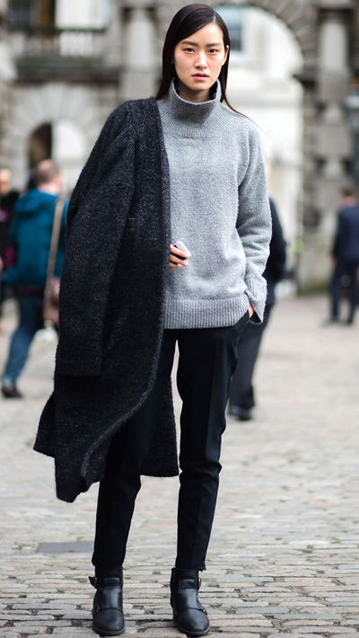 "Last season: Chunky cable knits <br _tmplitem=""5""> This season: Dig out your once-daggy turtleneck skivvy and wear under everything"