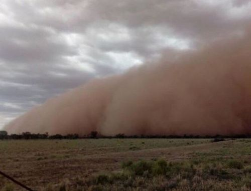 A dust storm has swept across regional New South Wales.