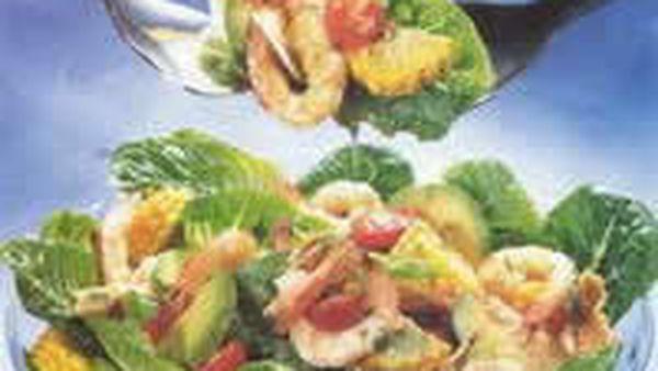 Prawn and Crunchy Tortilla Salad