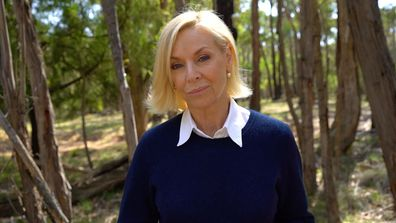 60 MInutes reporter Liz Hayes at Mount Macedon, where Karen Ristevski's body was found,