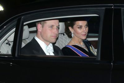 The Duke and Duchess of Cambridge arrive at Diplomatic Corps Reception, December 2019