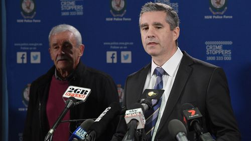 Mr White and Det. Supt Scott Cook are appealing for any information into Mrs White's murder. Picture: AAP