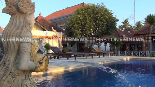 Queensland dad Peter Maynard was staying at the Nusa Indah bungalows in Nusa Lembongan, off the coast of Bali. (9NEWS)