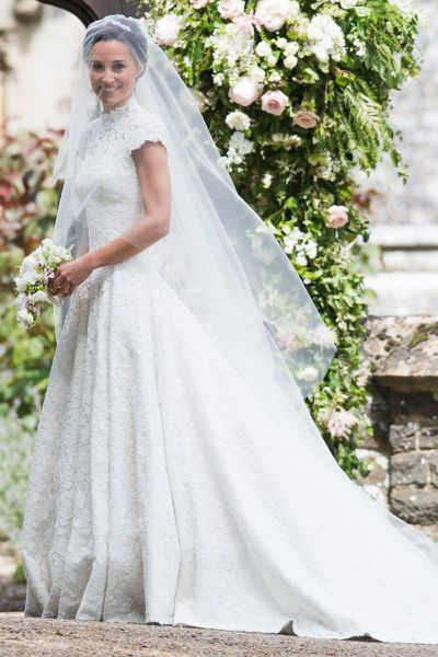 """<p>From actresses to almost-royalty, there's been a flurry of high profile nuptials this year.<br /> <br /> The aesthetic that has defined the dresses donned by the A-list this year has been elegant, regal and romantic. <br /> <br /> <a href=""""https://style.nine.com.au/2017/05/22/10/17/pippa-middleton-wedding-dress-giles-deacon"""" target=""""_blank"""">Pippa Middleton</a> proved you don't have to have a royal title to make a sartorial statement in Giles Deacon and<a href=""""https://style.nine.com.au/2017/04/03/13/38/sylvia-jeffreys-wedding-dress-rebecca-vallance"""" target=""""_blank""""> Nine's Sylvia Jeffries </a>took tiers to the next level in custom-made Rebecca Vallance.<br /> <br /> Click through to revisit the most memorable celebrity wedding dresses of 2017.</p> <p><em>Pippa Middleton in Giles Deacon, May 2017</em></p>"""