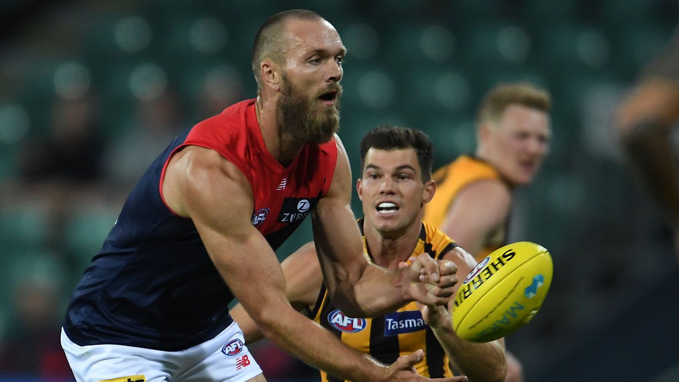 Melbourne captain Max Gawn makes successful return from injury in pre-season win over Hawthorn