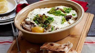 "<a href=""http://kitchen.nine.com.au/2016/05/16/16/25/baked-greek-lamb-stew"" target=""_top"" draggable=""false"">Baked Greek lamb stew</a>"