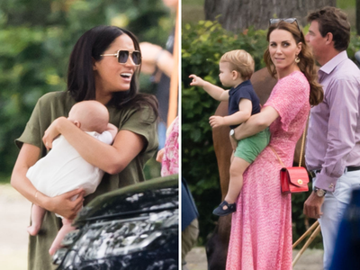 Kate and Meghan at the polo, July 2018
