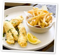 Flathead fillets with tempura butter