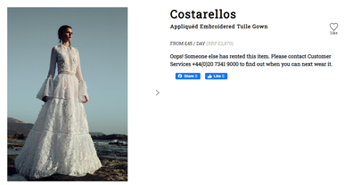 Carrie Symonds' wedding gown listed on MyWardrobeHQ