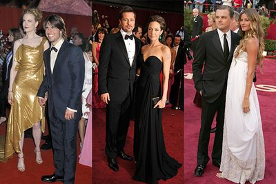 We're feeling Oscar fever!  Yep, it's upon us again and while we wait eagerly to find out who will be walking away with their shiny gold statues this year, let's celebrate all the celeb couples that have walked hand in hand down the red carpet together, in years gone by….