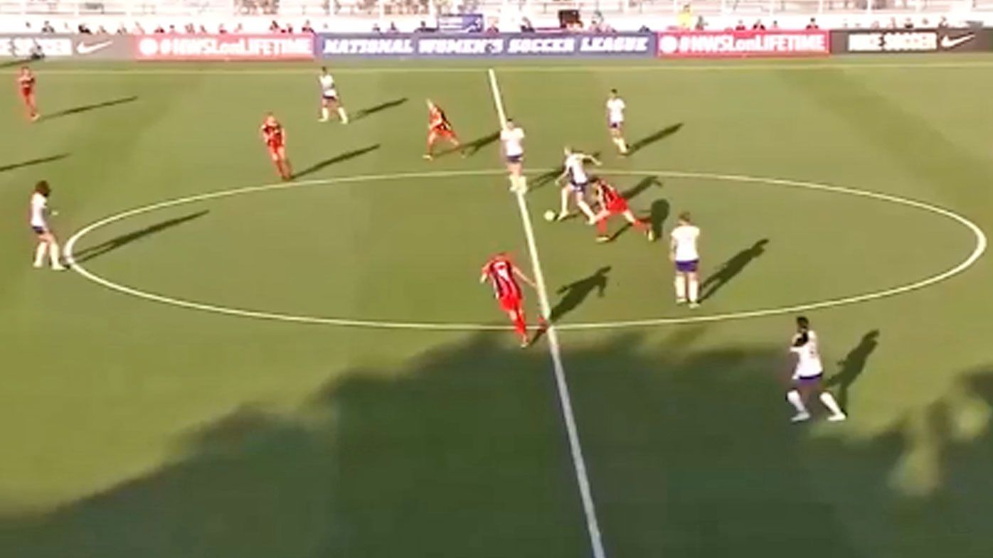 Matildas star Alanna Kennedy scores screamer from halfway