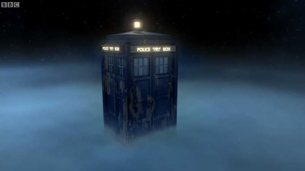 Dr Who shows off his TARDIS