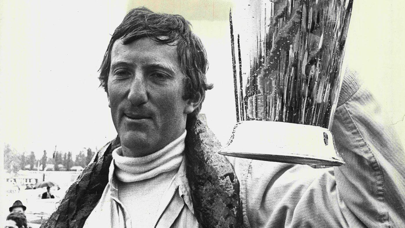 Jochen Rindt after winning a race in Sydney in February 1969.