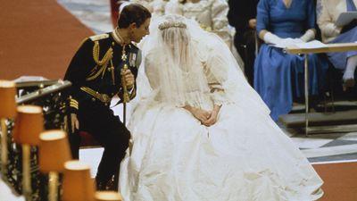 Princess Diana's dress was wrinkled