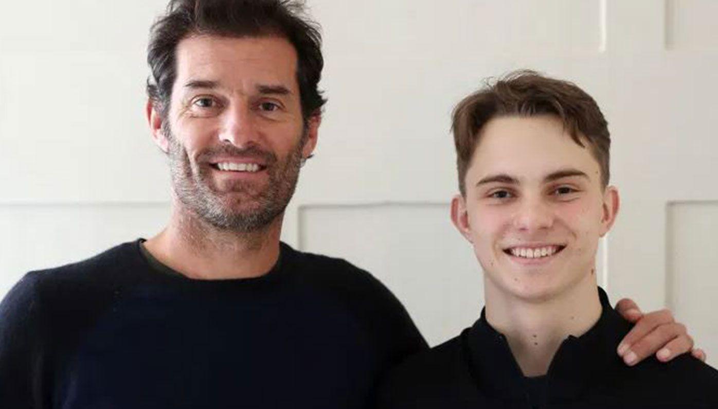 Mark Webber with Oscar Piastri.