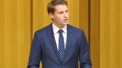 Andrew Hastie yesterday named the billionaire political donor as a conspirator in the bribery plot. Picture: 9NEWS