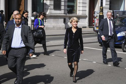 Foreign Minister Julie Bishop is in London  attending the Commonwealth Heads of Government Meeting (CHOGM). (AAP)