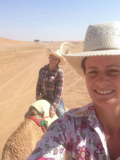 Being on a camel is pretty similar to being on a horse.
