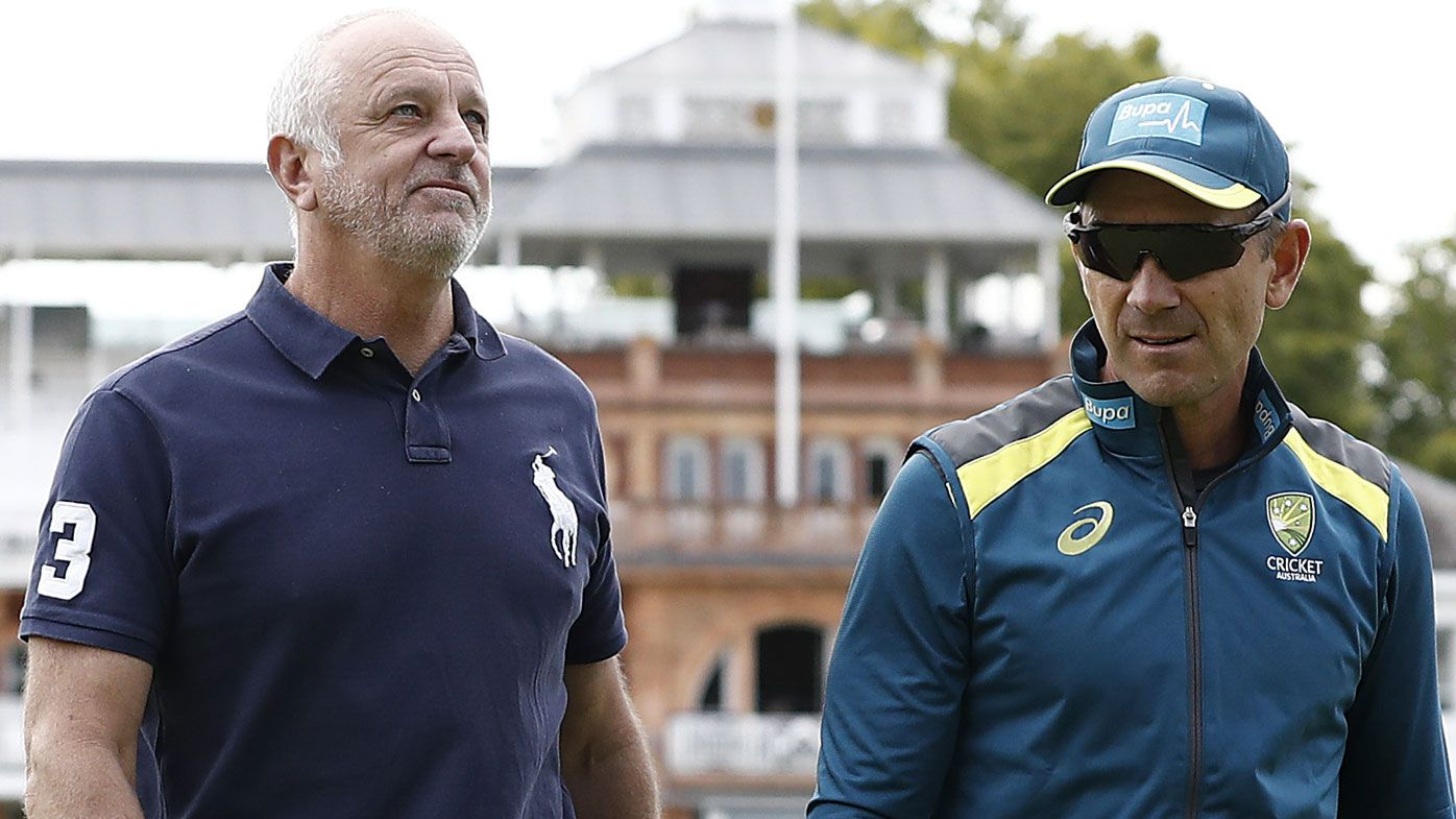 Justin Langer learns from Socceroos boss Graham Arnold at Lord's