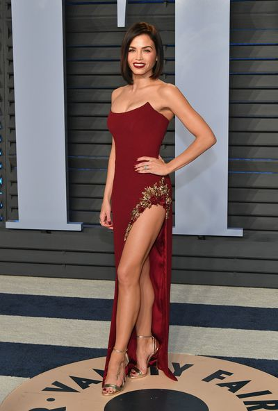 Jenna Dewan Tatum in Pamela Rolland  at the 2018 Vanity Fair Oscars After Party